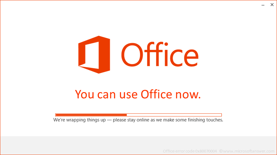 Office error code 0x80070004